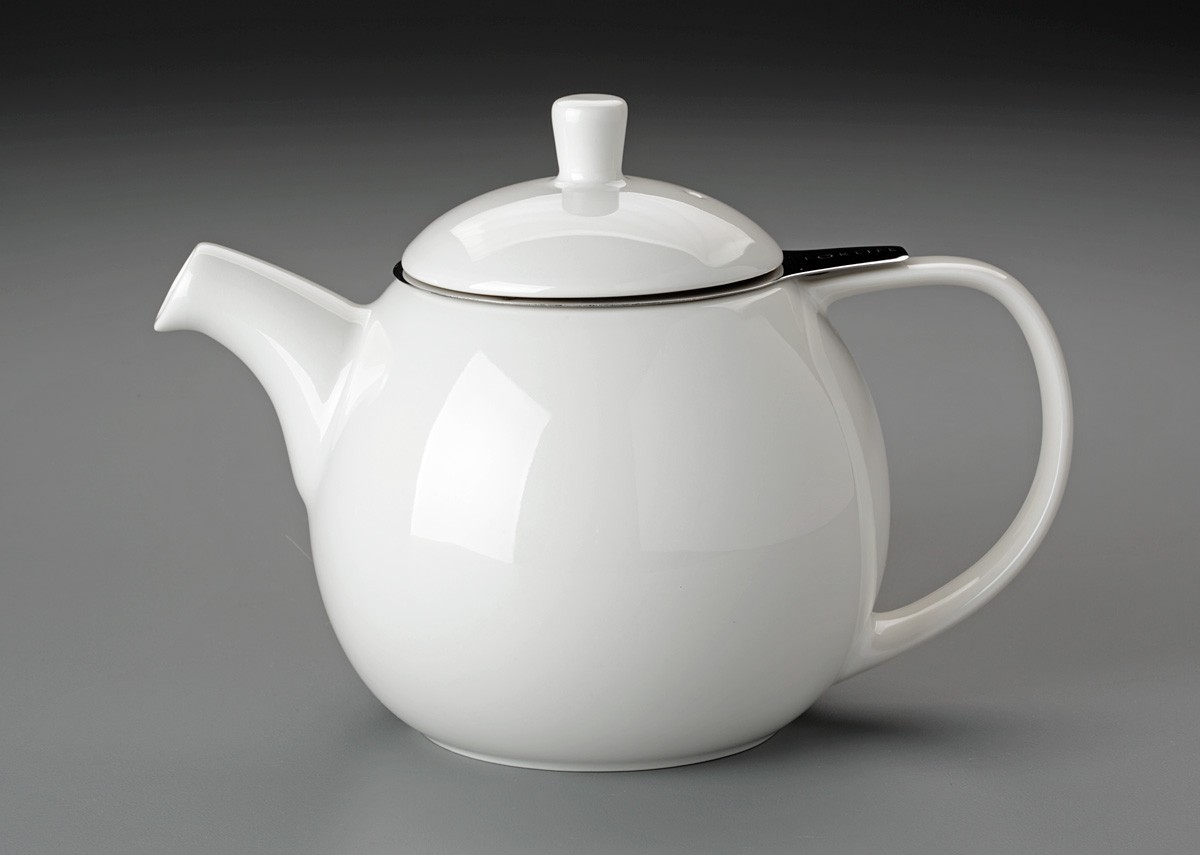 For Life Curve Teapot (White) : tableware for life - pezcame.com