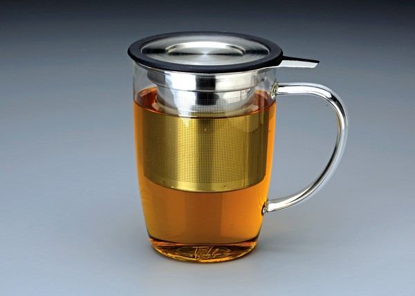 16 oz. New Leaf Glass Tea Mug