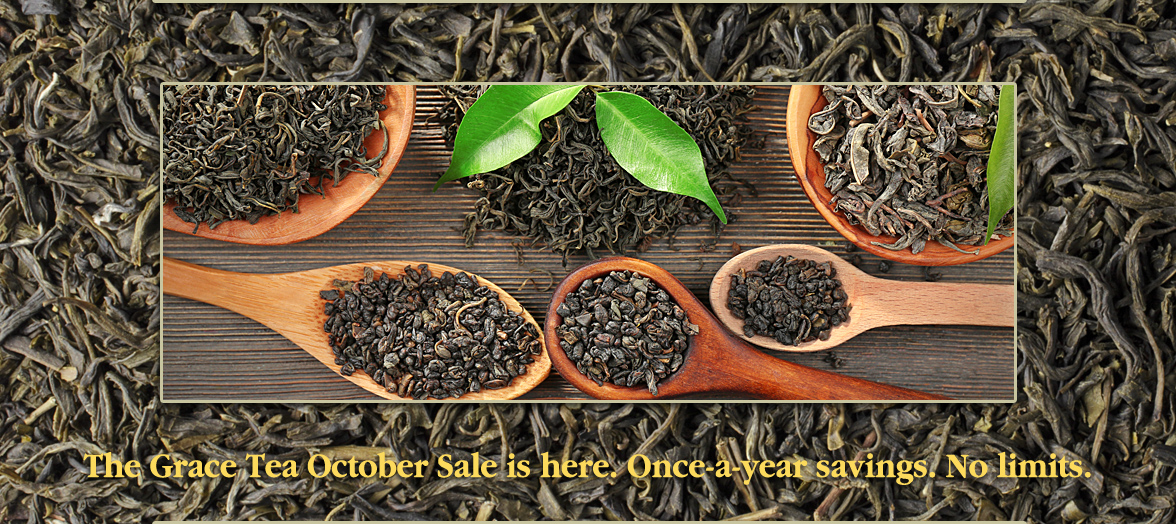 The Grace Tea September Sale is here. Once-a-year savings. No limits.